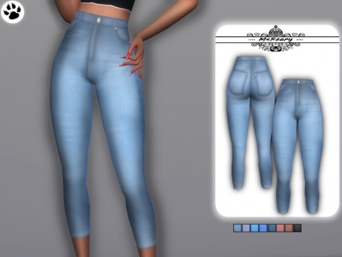 Washed Gradient Jeans by MsBeary at TSR image 359 670x503 Sims 4 Updates
