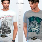 Men's T-shirt with car print by Sims House