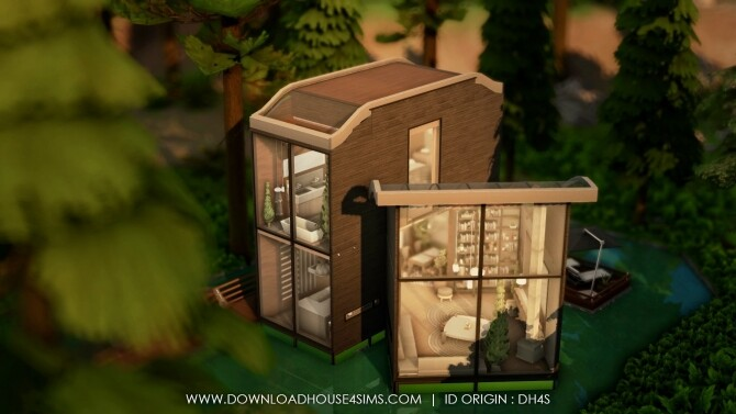 Sims 4 Ultra Modern Forest House at DH4S