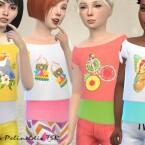 Girls Summertime Blouse by Pelineldis