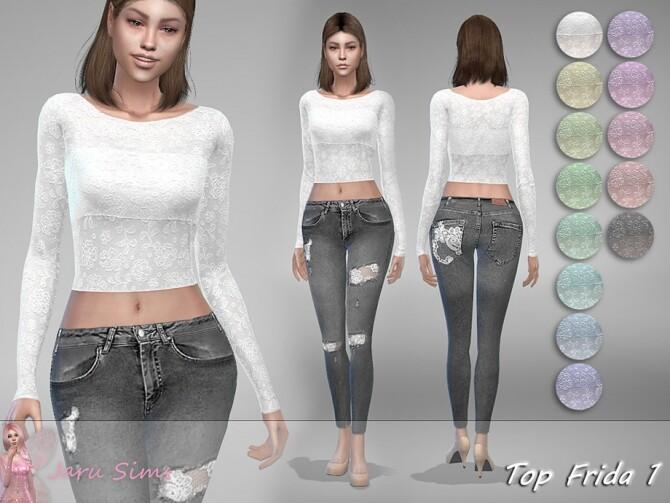 Sims 4 Top Frida 1 by Jaru Sims at TSR