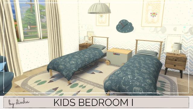 Sims 4 Kids Bedroom I at Dinha Gamer