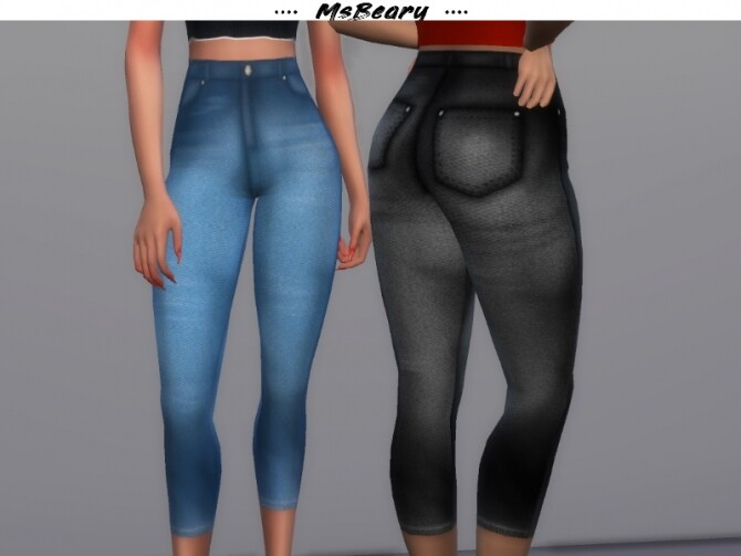 Sims 4 Washed Gradient Jeans by MsBeary at TSR
