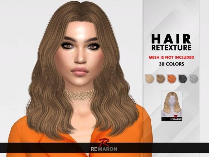 Sims 4 Trish Hair Retexture by remaron at TSR