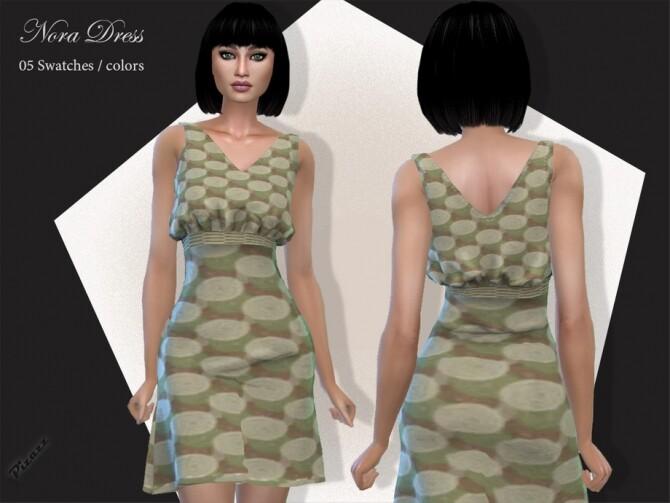 Sims 4 Nora Dress by pizazz at TSR