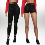 Leather leggings and shorts by Puresim
