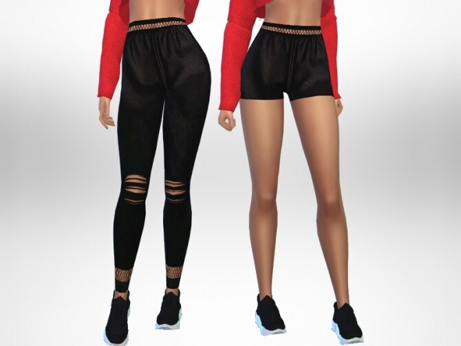 Sims 4 Leather leggings and shorts by Puresim at TSR