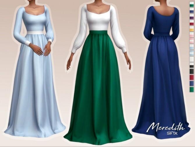 Sims 4 Meredith Dress by Sifix at TSR