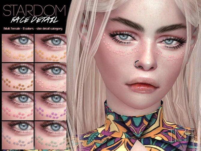 IMF Stardom Face Detail by IzzieMcFire at TSR image 384 670x503 Sims 4 Updates