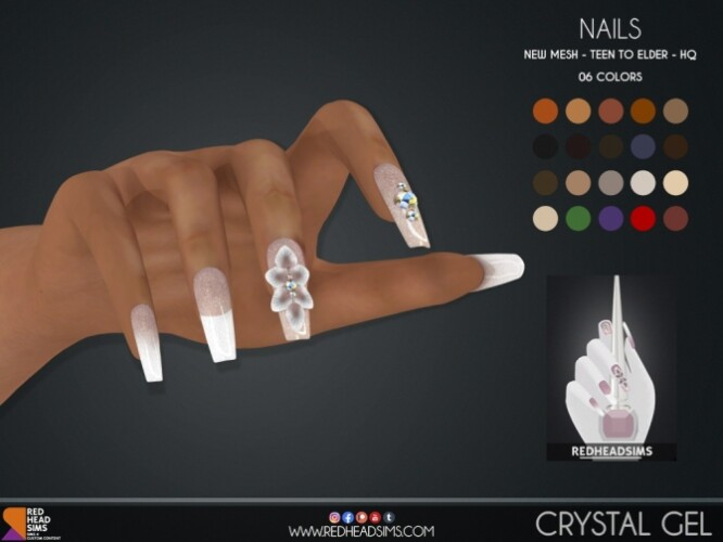 CRYSTAL GEL NAILS