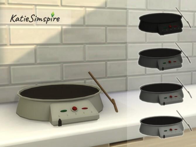 Sims 4 Crepe Maker by Katiesimspire at TSR