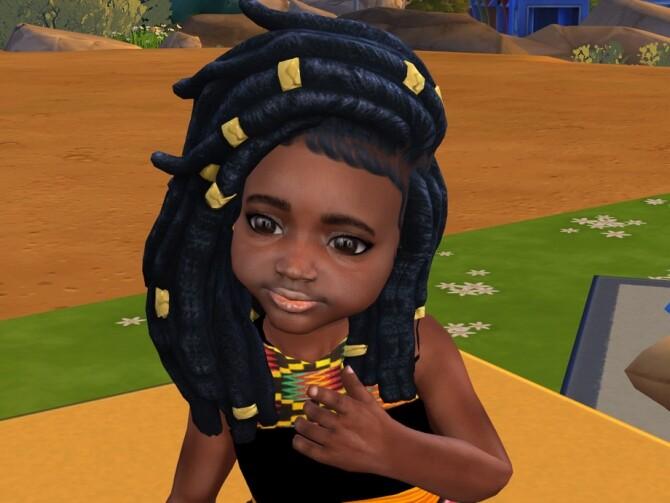 Sims 4 Nitty Dreads by drteekaycee at TSR