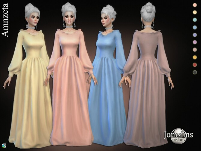 Amnzeta dress by  jomsims at TSR image 397 670x503 Sims 4 Updates
