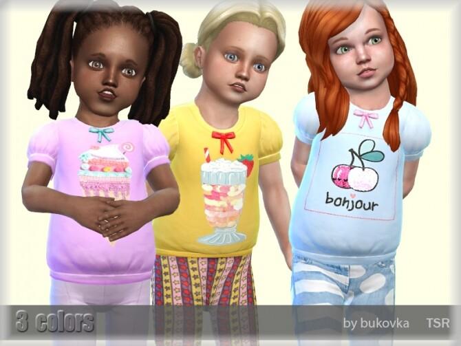Sims 4 Shirt Sweets by bukovka at TSR
