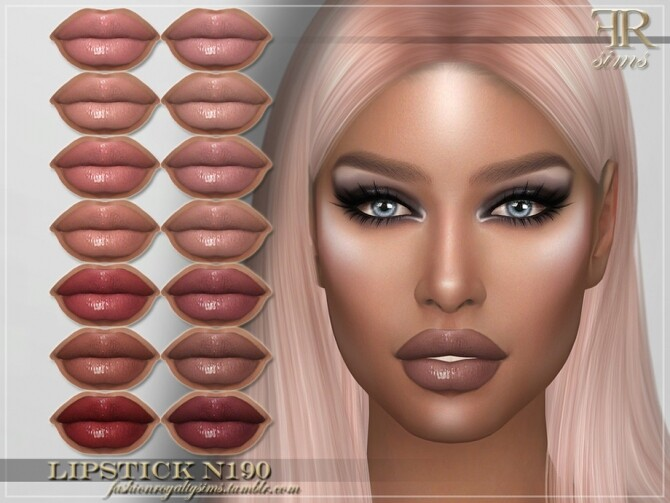 FRS Lipstick N190 by FashionRoyaltySims at TSR image 409 670x503 Sims 4 Updates