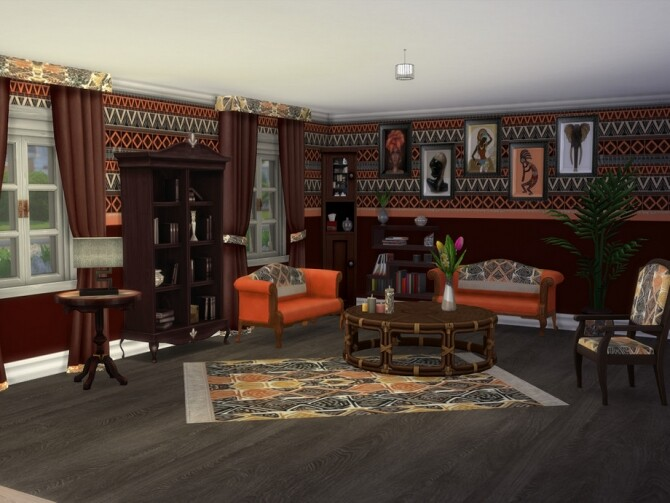 Out Of Africa Base Set Recolour by seimar8 at TSR image 4102 670x503 Sims 4 Updates