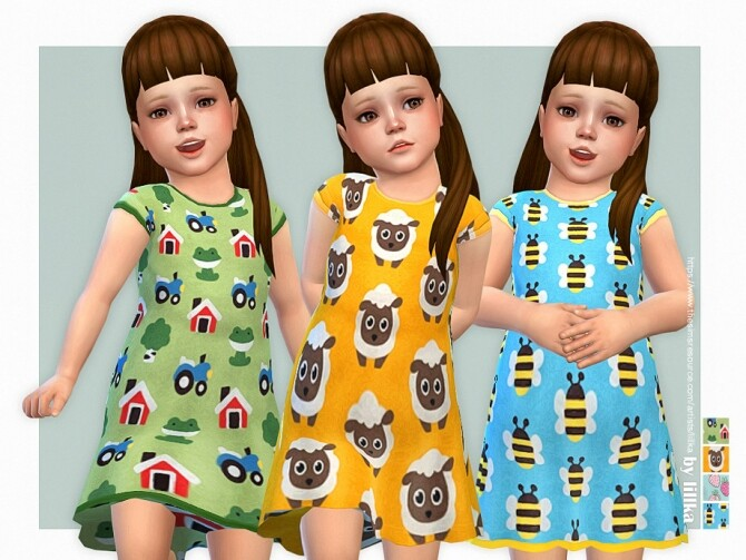 Sims 4 Cute Farm Dress 02 by lillka at TSR