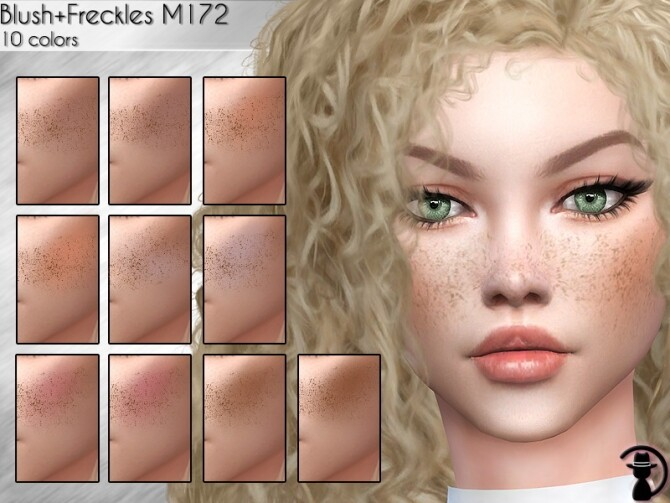 Sims 4 Blush + Freckles M172 by turksimmer at TSR