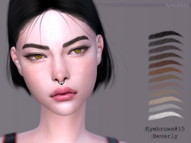 Eyebrows 15 Beverly by ANGISSI at TSR image 413 670x503 Sims 4 Updates