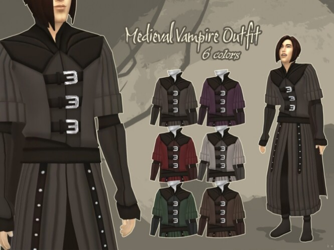 Medieval Vampire Outfit by kennetha_v