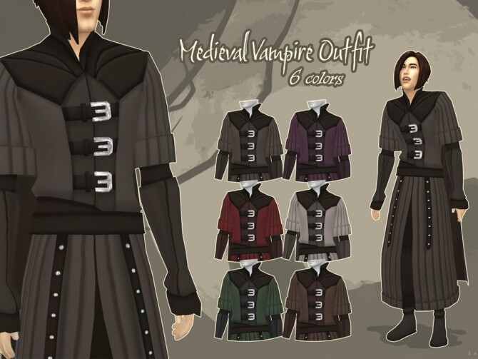 Medieval Vampire Outfit by kennetha v at TSR image 420 670x503 Sims 4 Updates