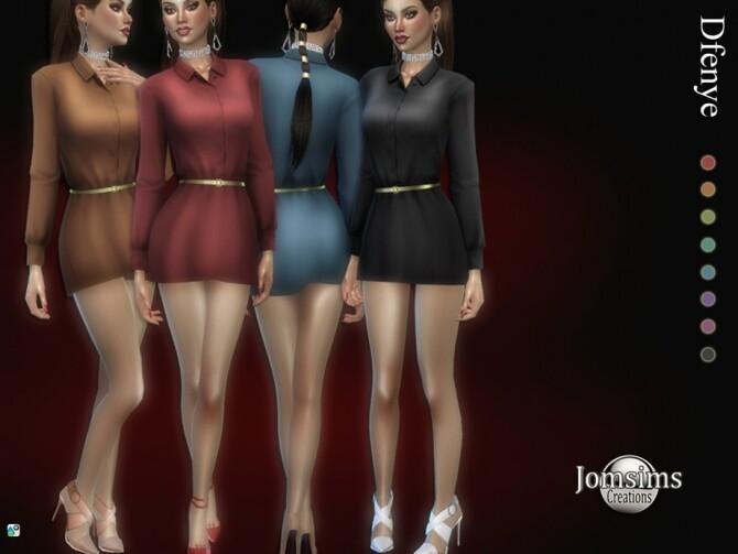 Dfenye short dress by jomsims at TSR image 4211 670x503 Sims 4 Updates