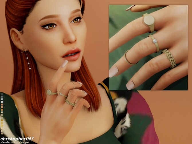 Monet Rings by Christopher067 at TSR image 4215 670x503 Sims 4 Updates