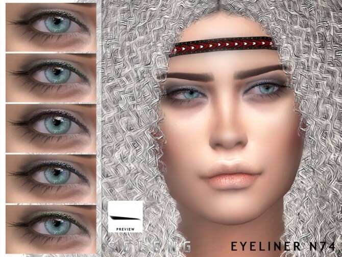 Eyeliner N74 by Seleng at TSR image 422 670x503 Sims 4 Updates