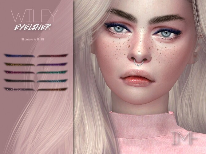 IMF Wiley Eyeliner N.101 by IzzieMcFire at TSR image 425 670x503 Sims 4 Updates