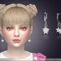 Star Drop Huggie Earrings For Kids by feyona