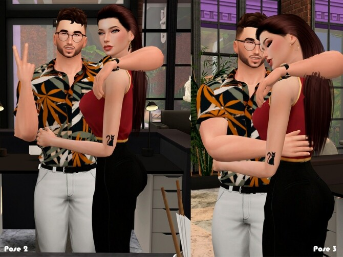 Coffee afternoon Pose pack by Beto ae0 at TSR image 430 670x503 Sims 4 Updates
