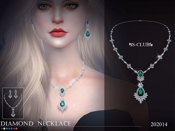 Diamond necklace 202014 by S Club LL at TSR image 433 670x503 Sims 4 Updates