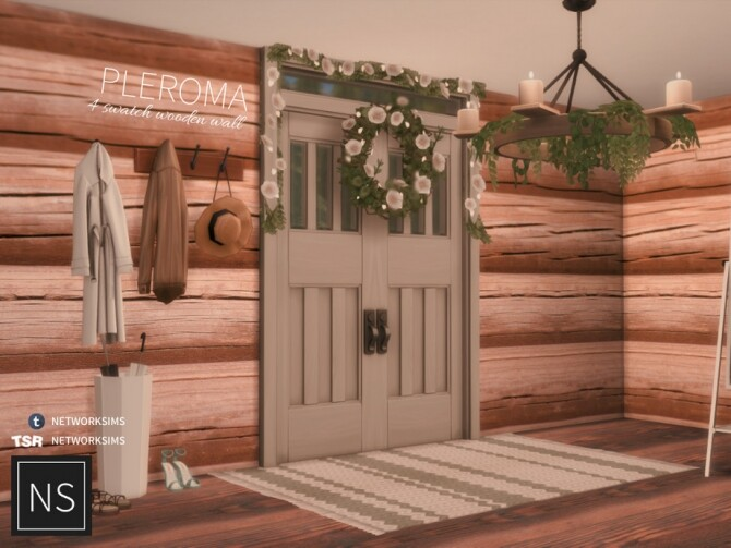 Sims 4 Pleroma Wooden Walls by Networksims at TSR