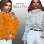 Chunky Knit Sweater with Zip Neck by Sims House