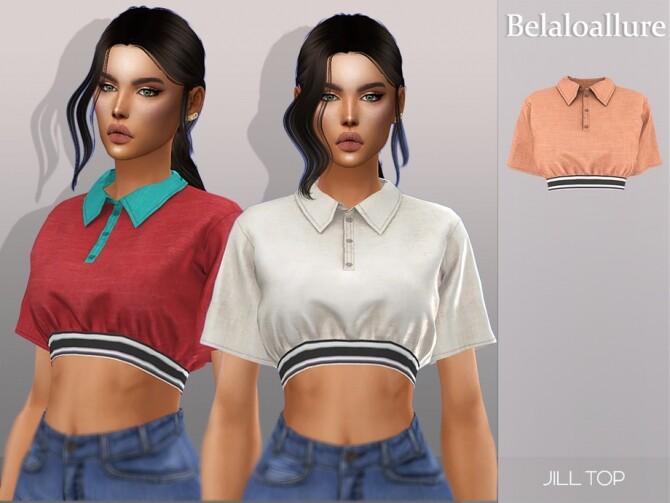 Sims 4 Belaloallure Jill top by belal1997 at TSR