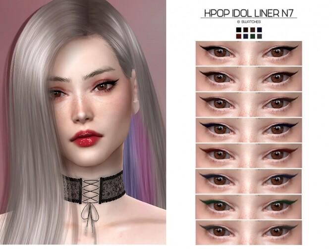Sims 4 LMCS Kpop Idol Liner N7 by Lisaminicatsims at TSR