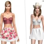 Frill Farm Skirt by CherryBerrySim