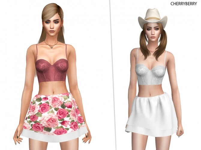 Frill Farm Skirt by CherryBerrySim at TSR image 453 670x503 Sims 4 Updates