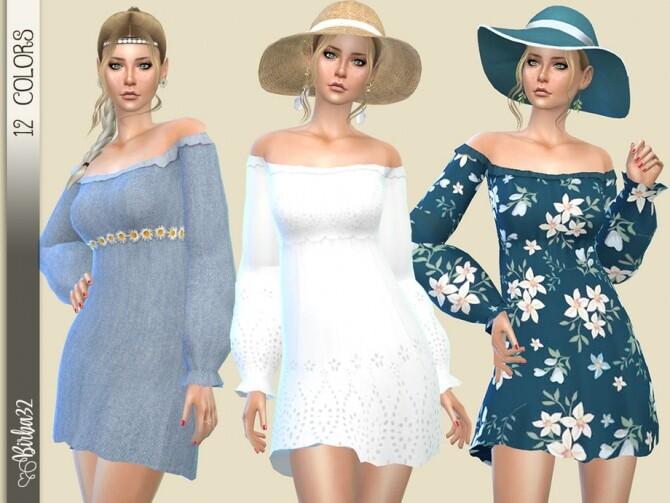 Boho dress with long sleeves by Birba32 at TSR image 459 670x503 Sims 4 Updates
