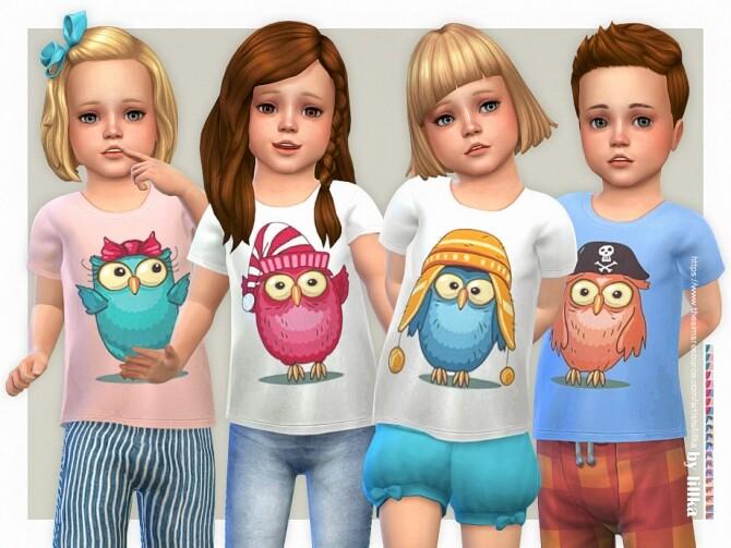 Sims 4 Owl T Shirt by lillka at TSR