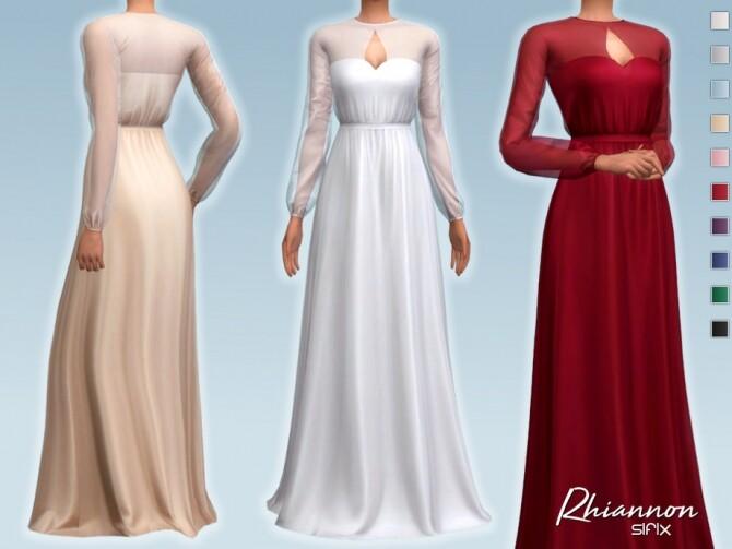 Sims 4 Rhiannon Dress by Sifix at TSR