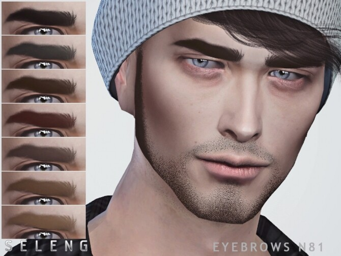 Eyebrows N81 by Seleng at TSR image 489 670x503 Sims 4 Updates