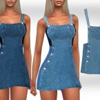 Mini Denim Dress by Saliwa