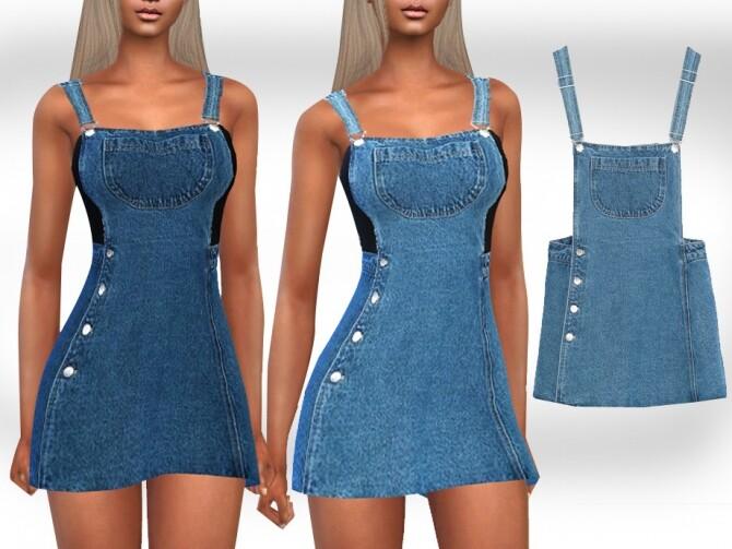 Sims 4 Mini Denim Dress by Saliwa at TSR