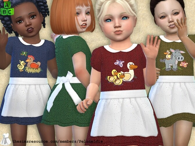 Sims 4 Farm Dress with Apron by Pelineldis at TSR