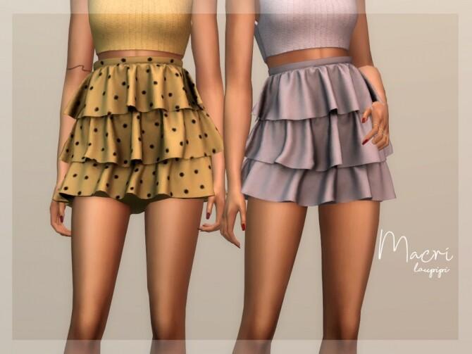 Sims 4 Macri Skirt by laupipi at TSR
