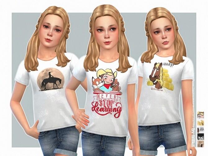 Sims 4 Country Girl T Shirt by lillka at TSR