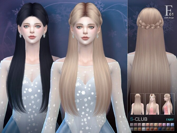 Hair n61 Fairy by S Club at TSR image 508 670x503 Sims 4 Updates