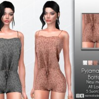 Knit Pajamas Set Bottom by mermaladesimtr