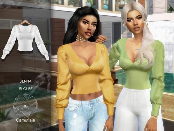 Sims 4 Jenna Blouse by Camuflaje at TSR